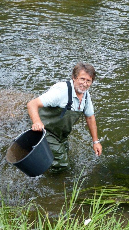 Naturschutz aktiv – ASV Hillerse baut mehrere Kiesrauschen in die Oker