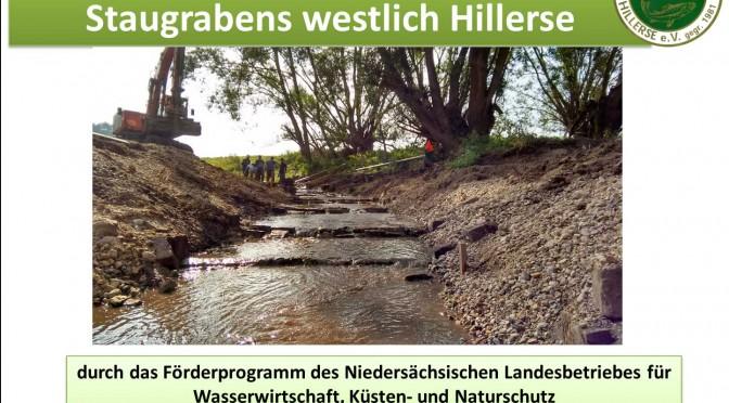 Naturnahe Umgestaltung eines Staugrabens (westlich von Hillerse)