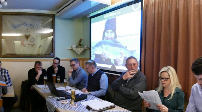 ASV Hillerse – Jahreshauptversammlung 2017 Angeln & Naturschutz in vorbildlicher Einheit