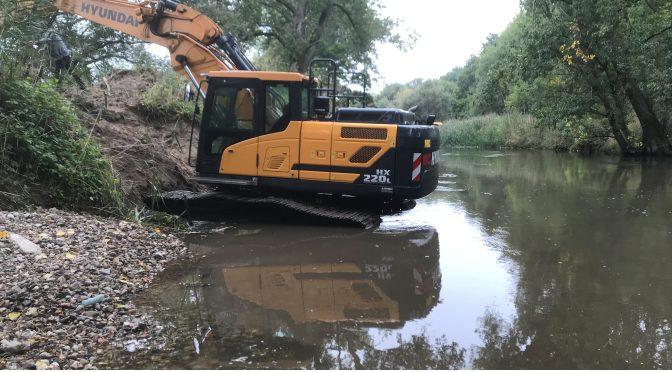 Naturschutz: Strukturelle Aufwertung der Oker in der Gemarkung Hillerse